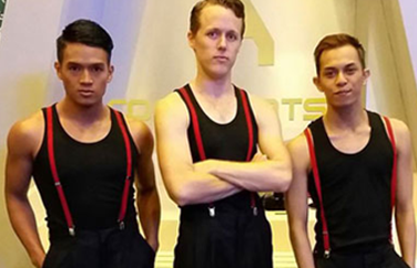 Male tap dancers Singapore